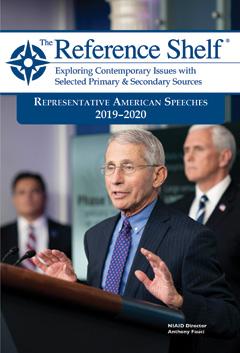The Reference Shelf: Representative American Speeches 2019-2020